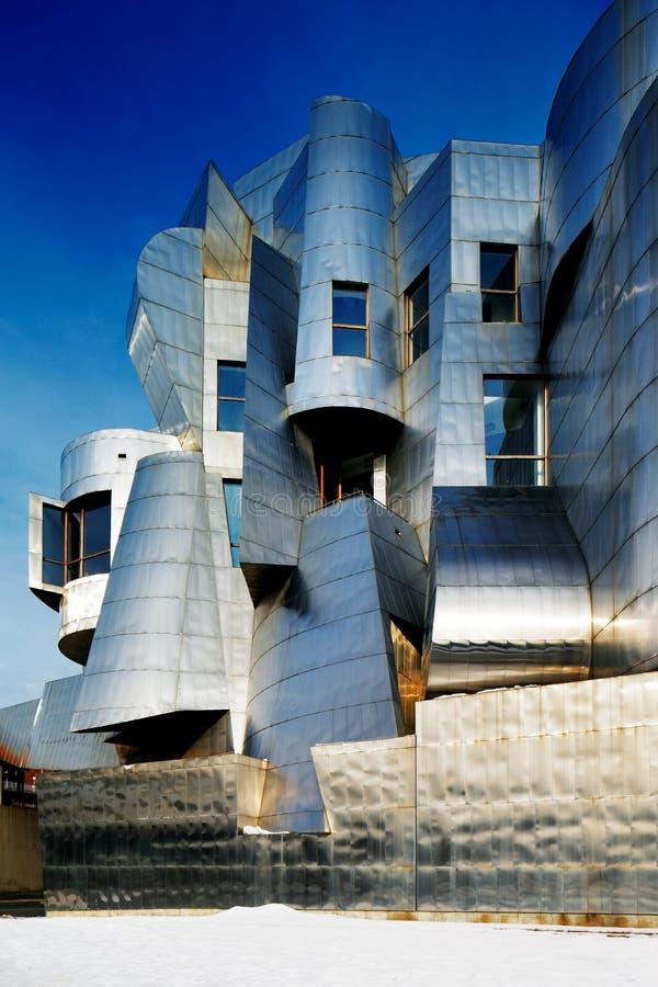 Weisman美术馆,明尼苏达大学在米尼亚波尼斯,美国 免版税图库摄影