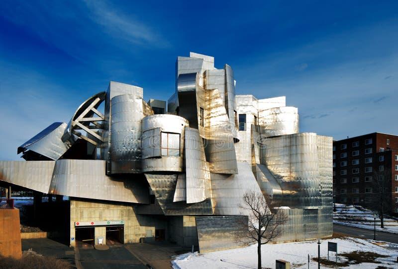 Weisman Art Museum, Universiteit van Minnesota in Minneapolis, de V.S. stock foto