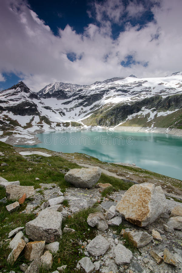Weiss-see, Stubach, Austria royalty free stock photo
