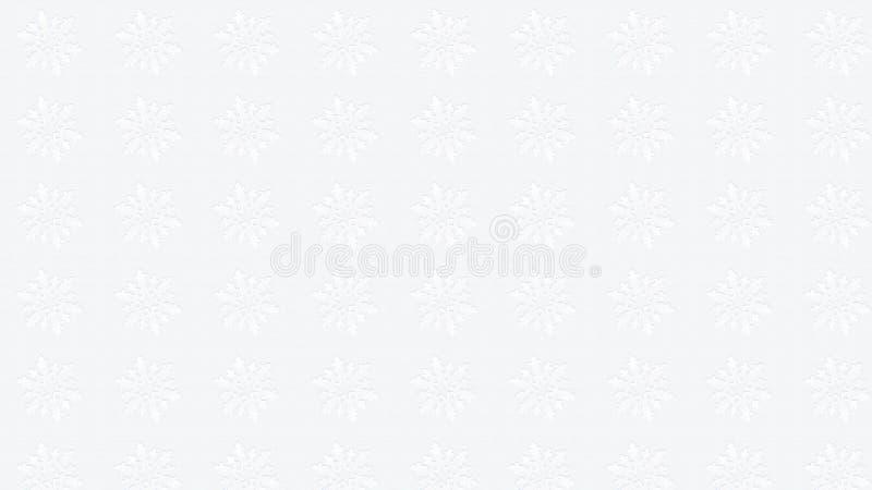 WEISSE Hintergrundbeschaffenheitsschneeflocke stockfoto
