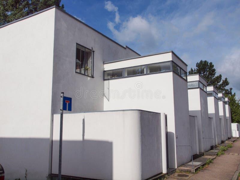 Weissenhof Siedlung à Stuttgart photographie stock libre de droits