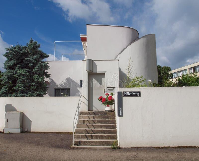 Weissenhof Siedlung in Stuttgart stockfotografie