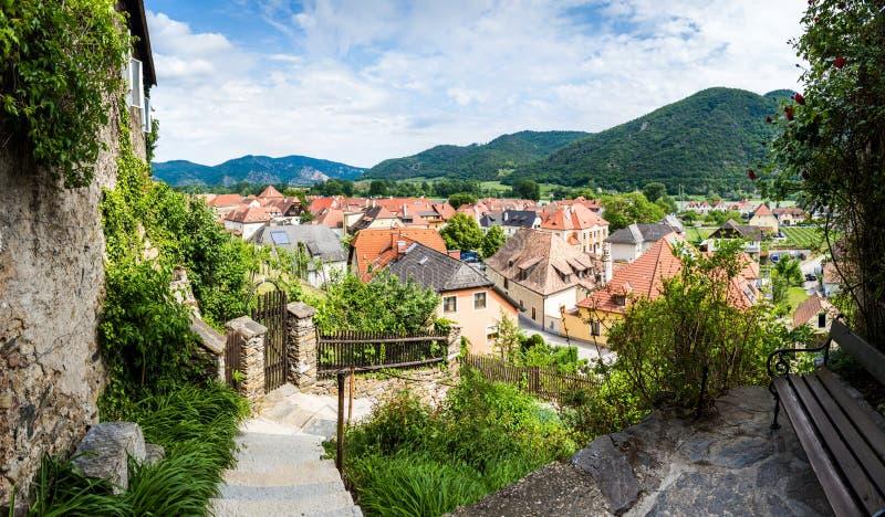 Weissenkirchen in der Wachau Lager Oostenrijk royalty-vrije stock foto's