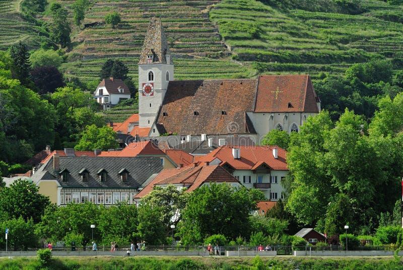 Weissenkirchen in Wachau, Österreich stockfotografie