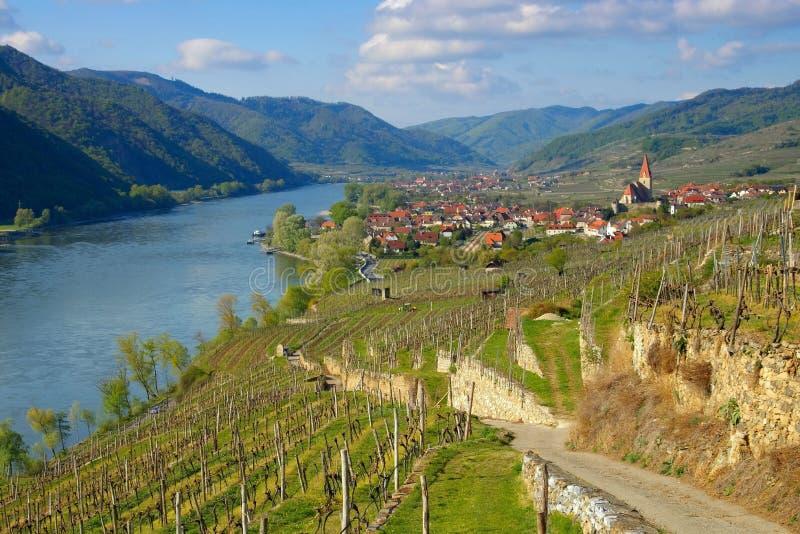 Weissenkirchen in Wachau lizenzfreie stockbilder