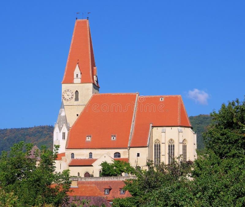 Weissenkirchen in Wachau-Kirche lizenzfreie stockfotos