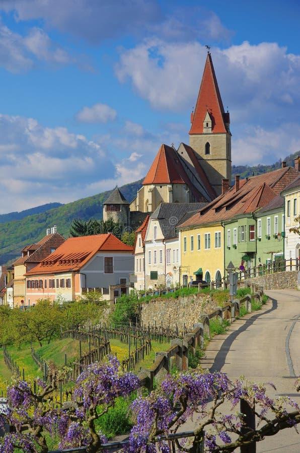 Weissenkirchen in Wachau-Kirche lizenzfreies stockbild
