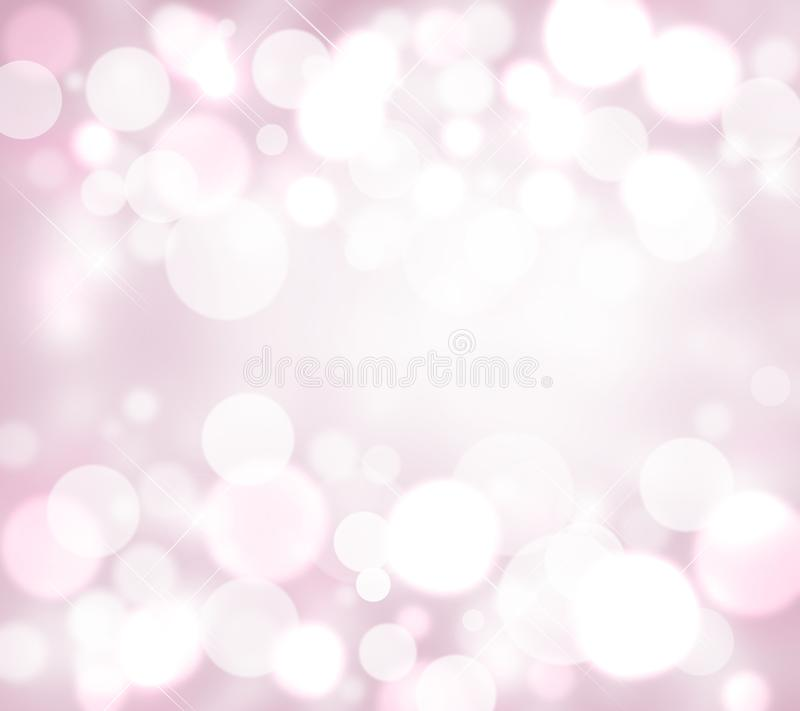 WEISSER UND ROSA HINTERGRUND MIT UNSCHARFEM BOKEH, FUNKELN vektor abbildung