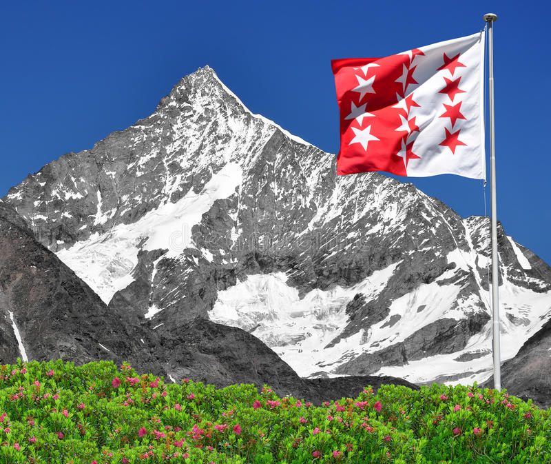 Weisshorn - alpes suisses image stock