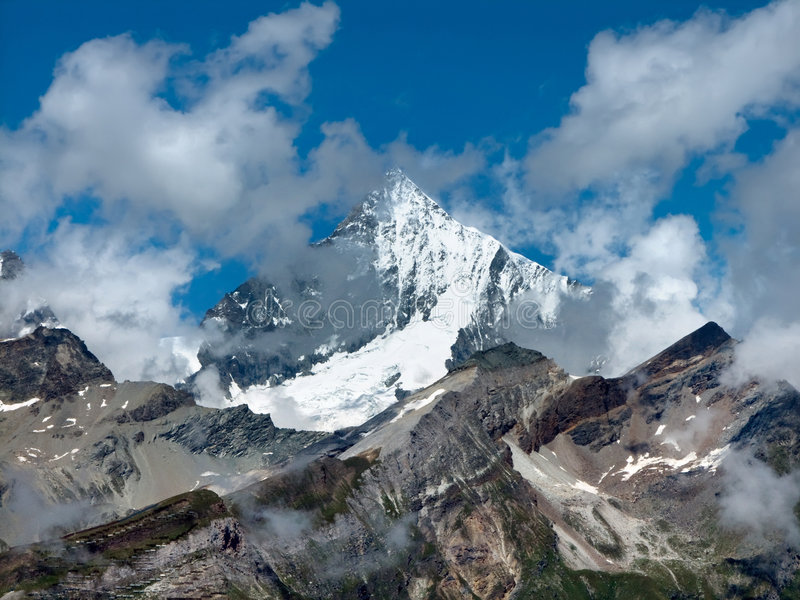 Weisshorn in Switzerland royalty free stock photo