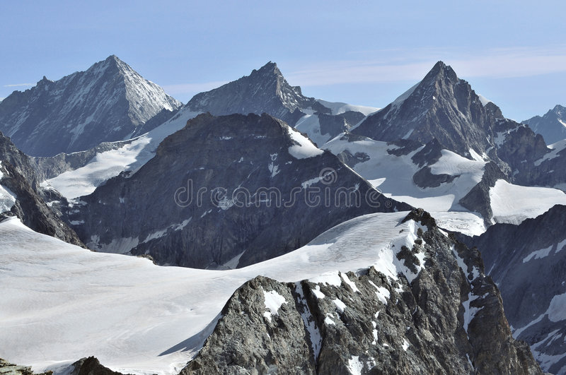 Download Weisshorn, ZinalRothorn And Obergabelhorn Stock Image - Image: 6042359