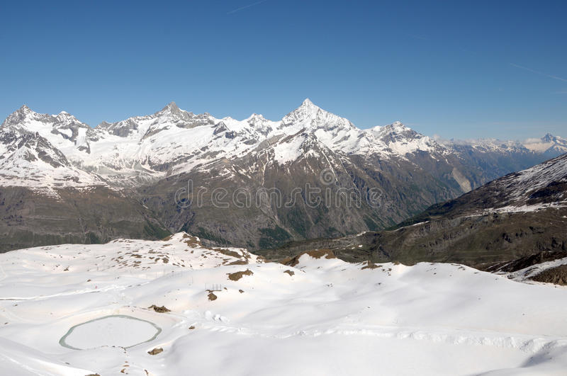 Download Weisshorn and Zinalrothorn stock image. Image of zinalrothorn - 35291343