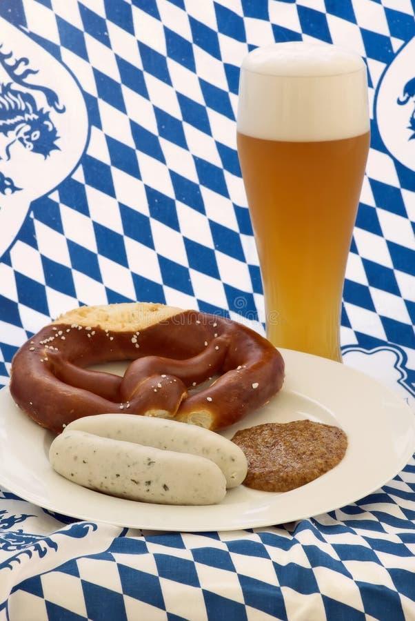 Weisswurst Frühstück lizenzfreies stockfoto