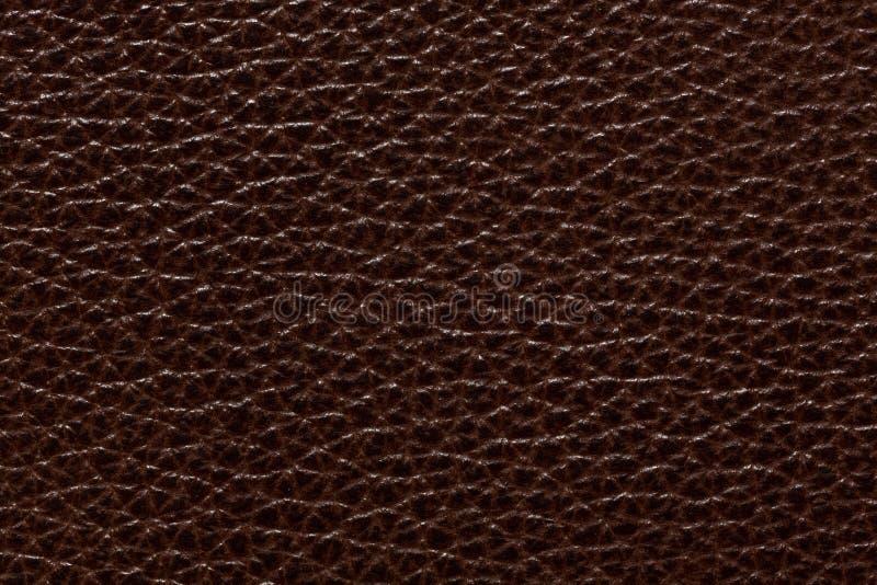 Weiter entwickelter lederner Hintergrund im stilvollen braunen Ton stockfotografie