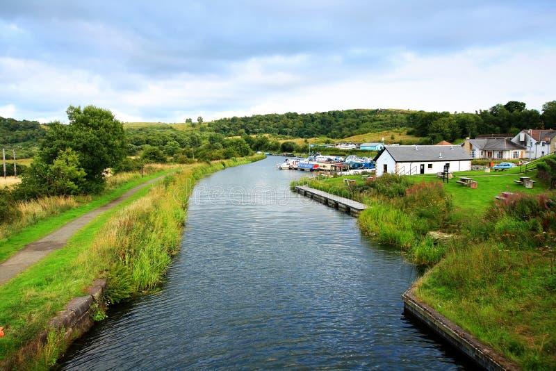 Weiter und Clyde Canal, Schottland lizenzfreies stockfoto