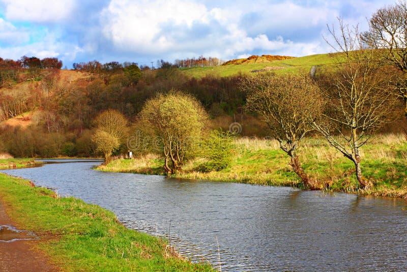 Weiter und Clyde-Kanal im Frühjahr stockbild
