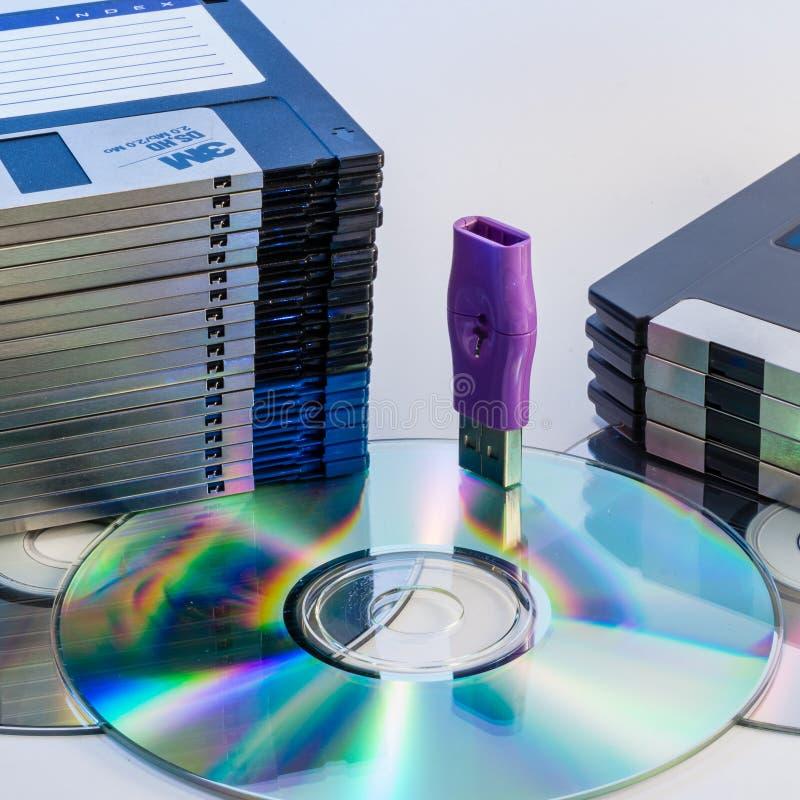 Weiterentwicklung der Computerdatenspeicherung lizenzfreie stockbilder