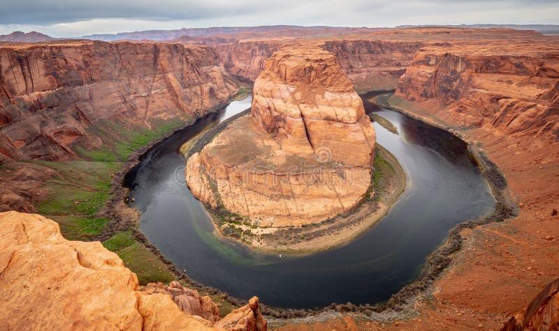Weitwinkelansicht über Kehre in Arizona stockbild