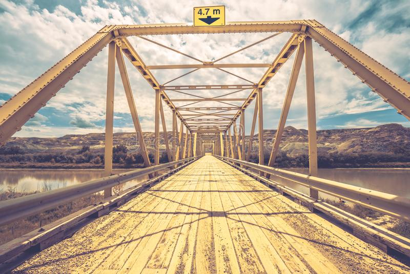 Weitwinkellandschaft Dorothy Ferry Bridges lizenzfreies stockfoto