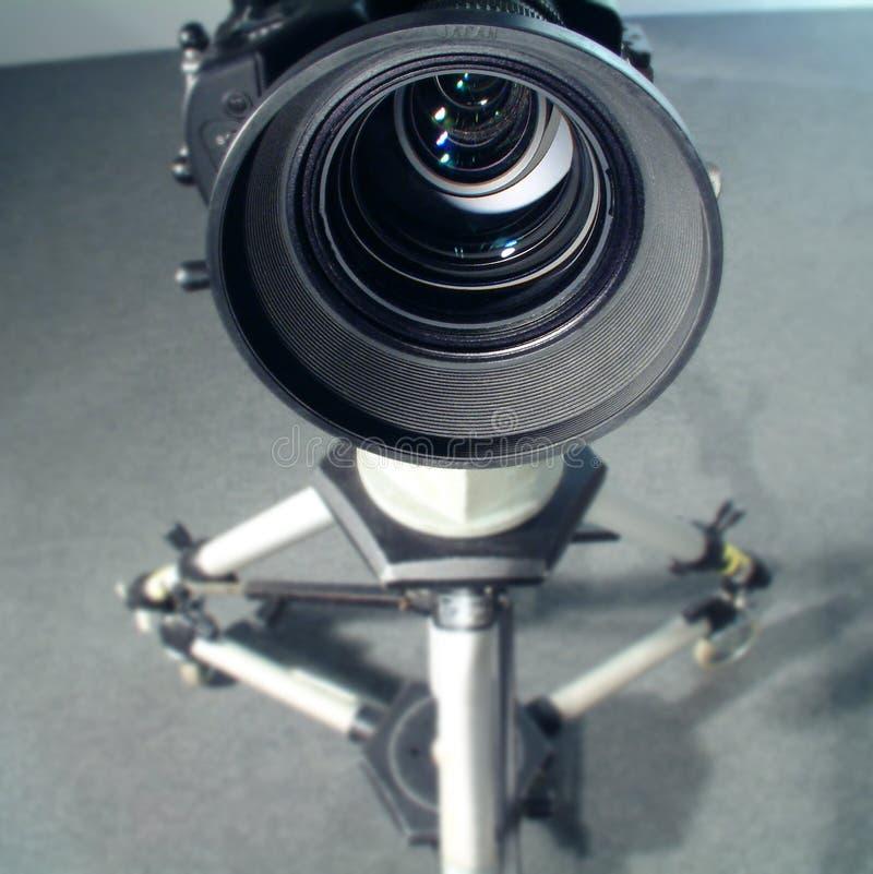 Weitwinkelvideoobjektivansicht stockbild
