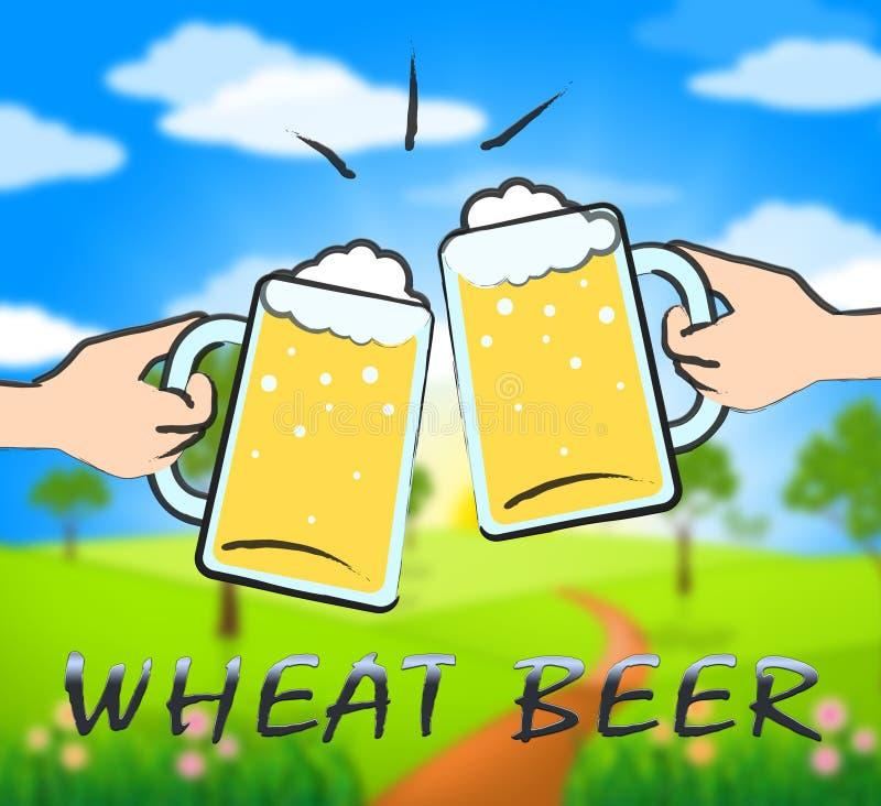Weizen-Bier, das Gasthaus und das Trinken zeigt lizenzfreie abbildung