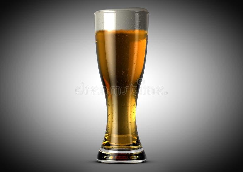 Weizen-Bier-halbes Liter lizenzfreie abbildung