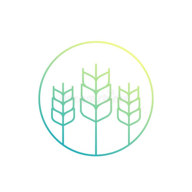 Weizen, Landwirtschaftsikone vektor abbildung
