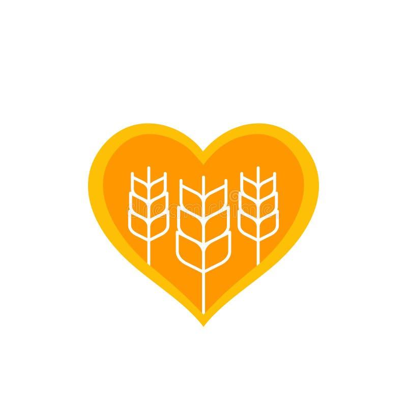 Weizen, Landwirtschaftsvektorlogo stock abbildung