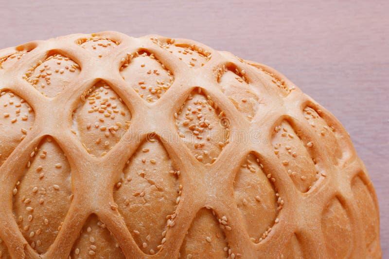 Weizenbrot mit indischem Sesam und Muster stockbild