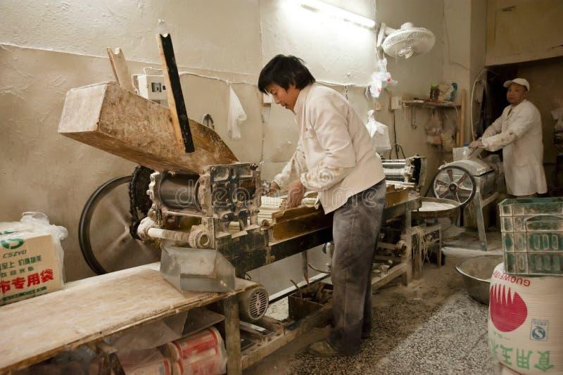 Weizennudelfabrik stockfotos