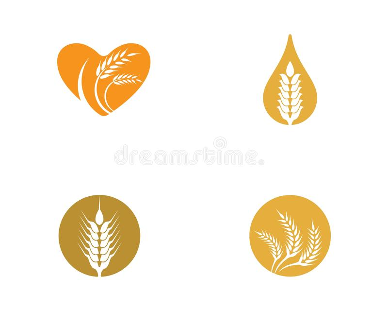Weizenvektor-Ikonenillustration lizenzfreie abbildung