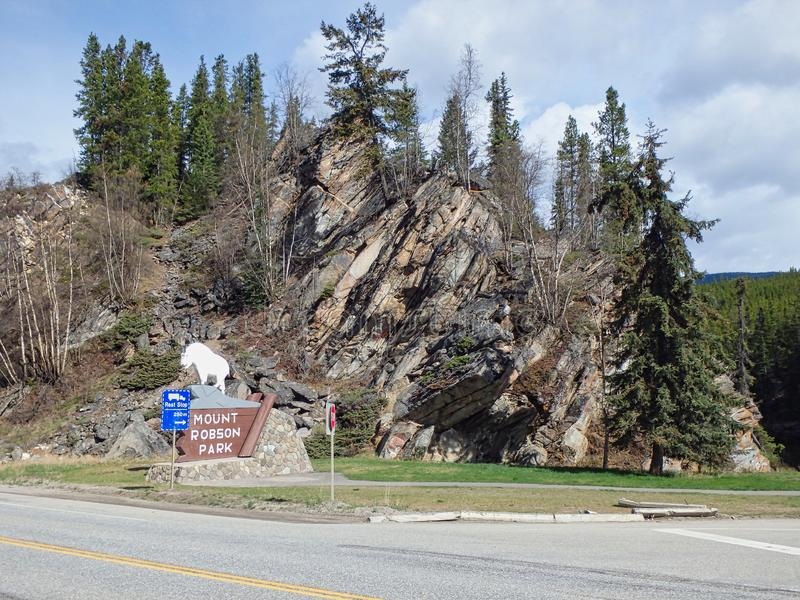 wejście góry Robson park obraz royalty free