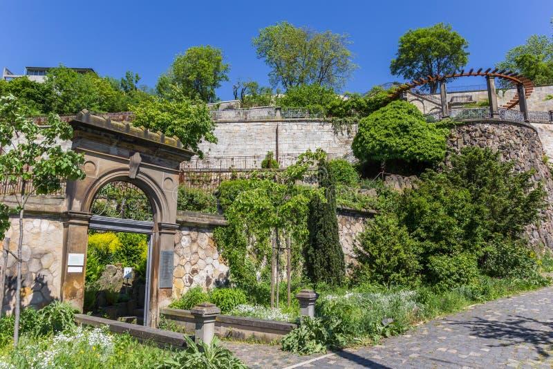 Wejście Weinberg park w Kassel fotografia stock