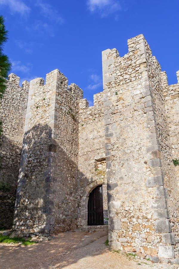 Wejście średniowieczny Sesimbra kasztel obraz royalty free