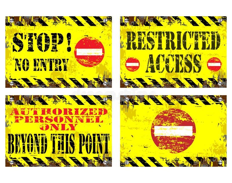 Wejście żadni Znaki ilustracja wektor