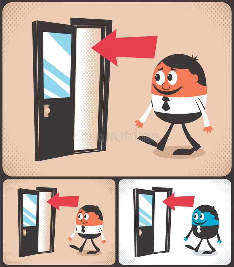 Wejście royalty ilustracja