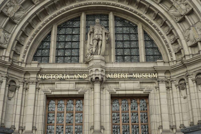 Wejście Albert muzeum w Londyn i Wiktoria światu wielki muzeum dekoracyjny obraz stock