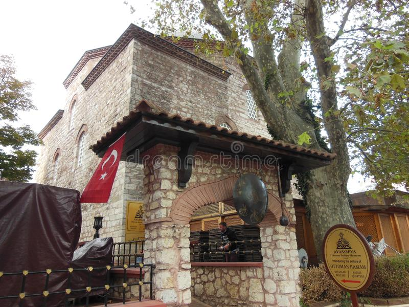 Wejście Ayasofya Hurrem sułtanu hamam, Istanbuł, Turcja fotografia stock