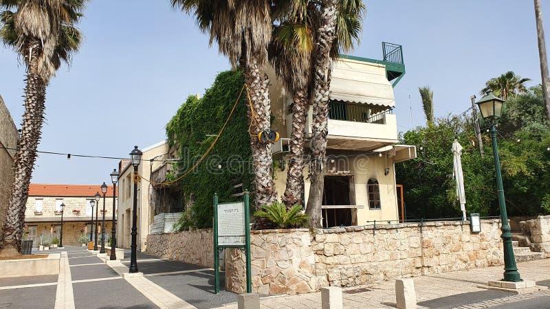 Wejście Beit Hamuchtar w Zichron Yaakov fotografia royalty free
