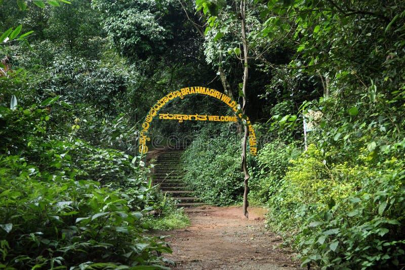 Wejście Brahmagiri przyrody sanktuarium zdjęcie stock