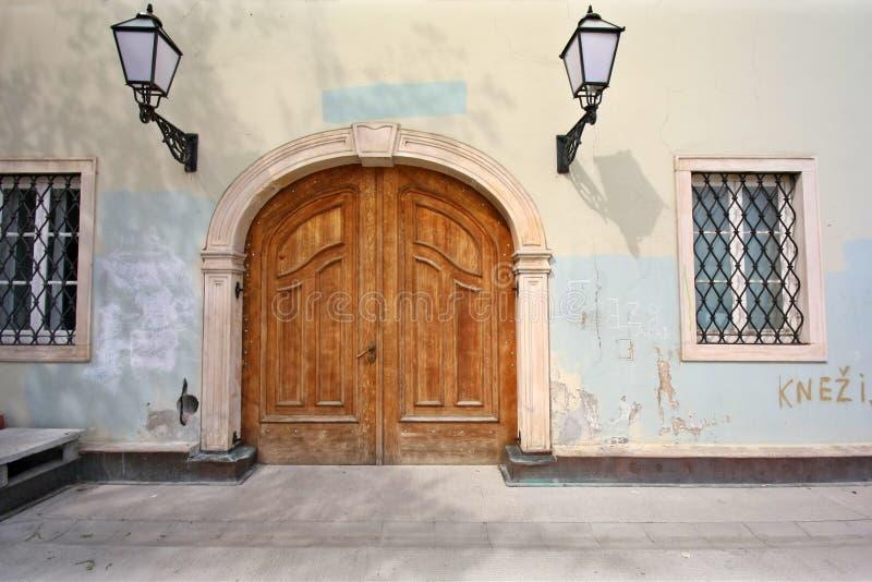 wejście do domu starego obraz stock