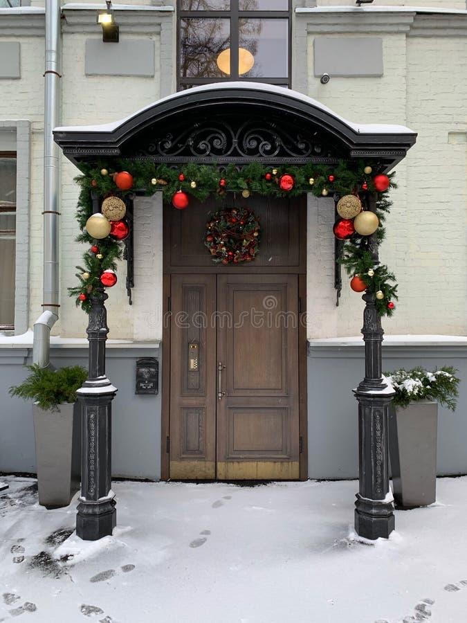 Wejście dom w nowym roku obraz stock