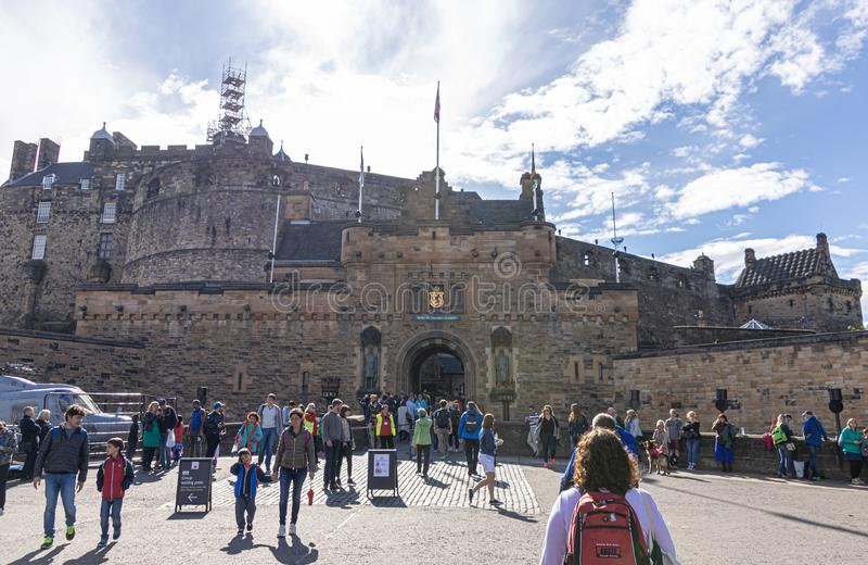 Wejście Edynburg kasztel zdjęcie stock