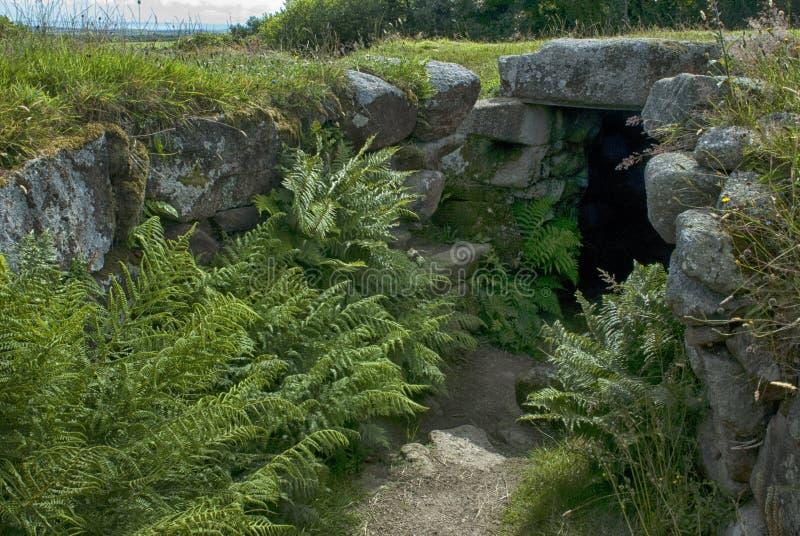 Wejście fogou przy Carn Euny, Cornwall obrazy royalty free