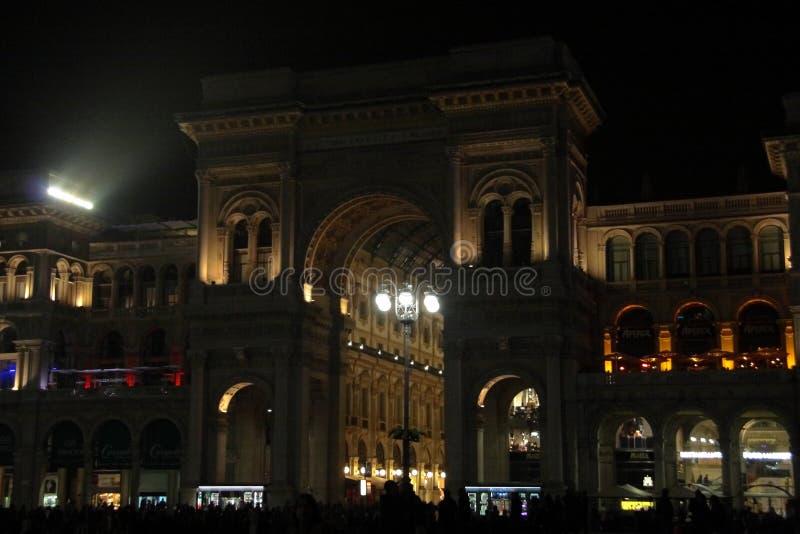 Wejście Galleria Vittorio Emanuele II fotografia royalty free