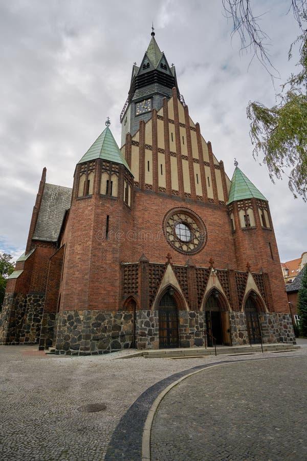 Wejście gotyk, Ewangelicki kościół obrazy stock