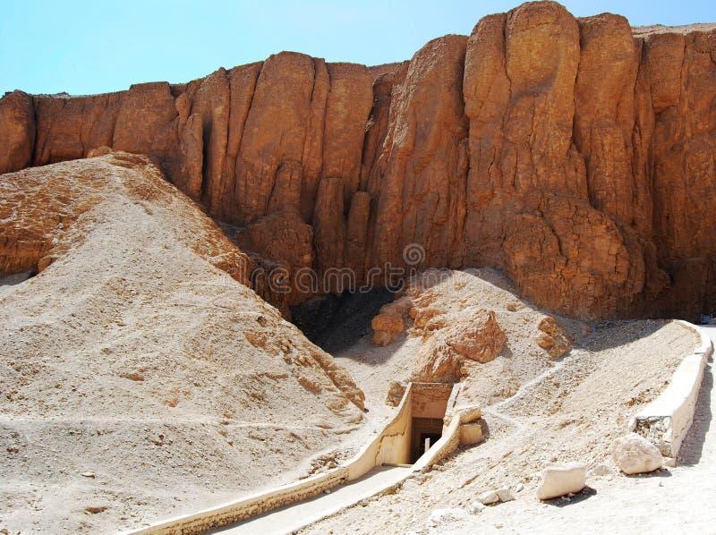 Wejście grobowiec w dolinie królewiątka, Egipt obraz royalty free