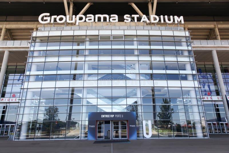 Wejście Groupama stadium w Lion, Francja zdjęcie royalty free