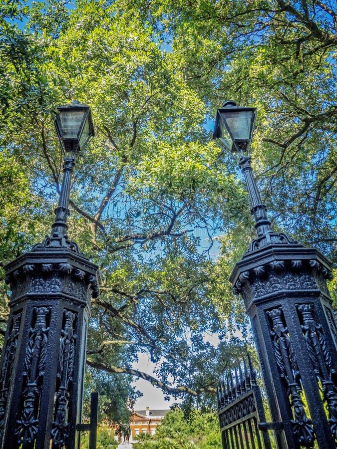 Wejście Jackson kwadrata dzielnica francuska zdjęcia royalty free