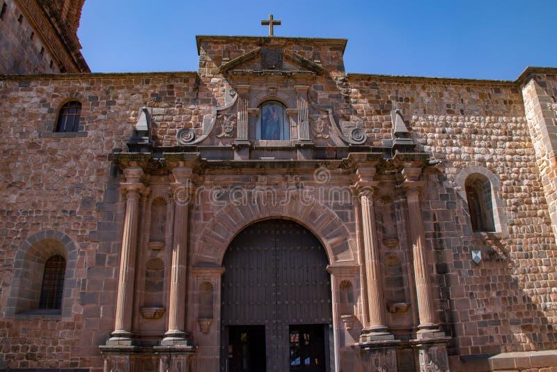 Wejście klasztor Santo Domingo obraz royalty free